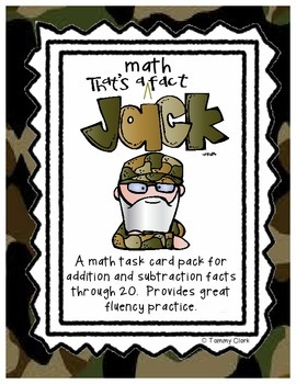 Duck Dynasty Addition & Subtraction Math Facts Game