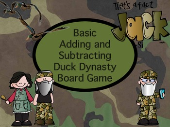 Duck Dynasty Basic Adding and Subtracting Numbers Board Game