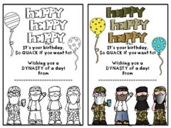 Duck Dynasty Birthday Bundle, Happy Birthday, Birthday
