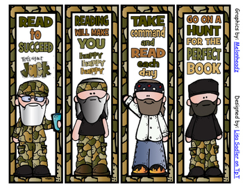 Duck Dynasty CUTE Bookmarks - 4 Designs