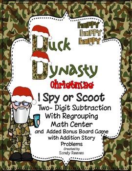 Duck Dynasty Christmas Scoot I Spy Game Math Center EXTRA
