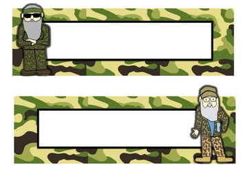 Duck Dynasty Desk Name Plates