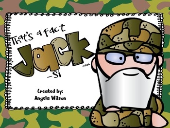 Duck Dynasty FACT or OPINION Sort
