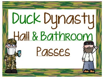 Duck Dynasty Hall Passes