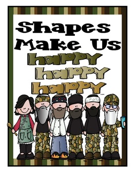 Duck Dynasty Inspired 2D and 3D Shape Posters