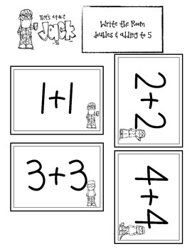 Duck Dynasty Kindergarten Math Facts & Write the Room