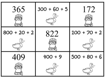 Duck Dynasty Place Value Concentration - Hundreds and Thousands