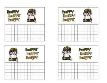 Duck Dynasty Point Cards