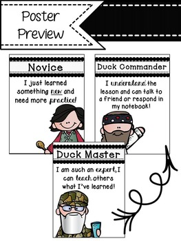 Duck Dynasty Self-Assessment Posters