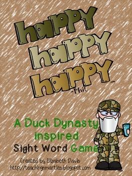 Duck Dynasty Sight Word Game:  Happy, Happy, Happy!