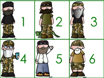 Duck Dynasty Ten Frames Math Centers