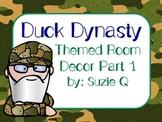 Duck Dynasty Themed Room Decor Part 1