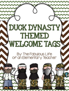 Duck Dynasty Themed Welcome Tags