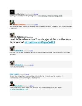 Duck Dynasty Tweets: Editing