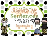Duck Dynasty Types of Sentences