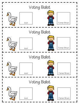 Duck For President: Reading Response and Voting Unit