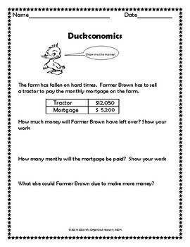 Duck For President Work Pages
