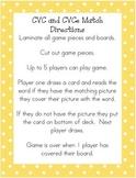 Duck Game CVC and CVCe words