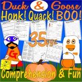 Duck & Goose Honk Quack Boo! Halloween Book Companion Reading Comprehension Unit