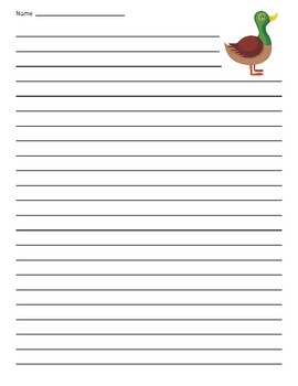 Duck Lined Paper