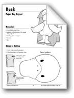 Duck Paper Bag Puppet
