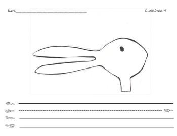 Duck! Rabbit! Writing paper