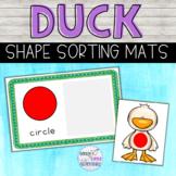 Duck Shape Sorting Mats - Farm Theme