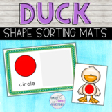 Duck Shape Sorting Activity - Farm Theme