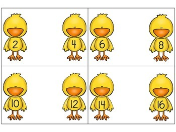 Duck Sorting Cards - What Number Comes Between?