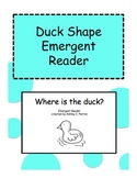 Duck Theme Shape Emergent Reader