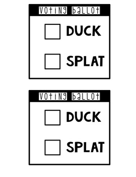 Duck Vs. Splat for President Election Resources