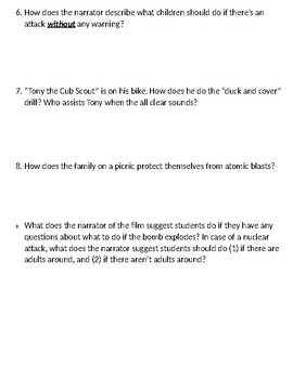 Duck and Cover Worksheet