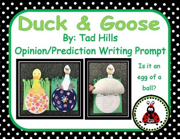 Duck and Goose Writing Prompt
