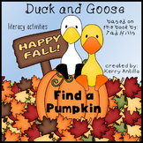 Duck and Goose Find a Pumpkin Literacy Activities