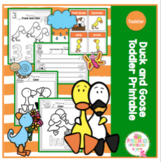 Duck and Goose Toddler Printable