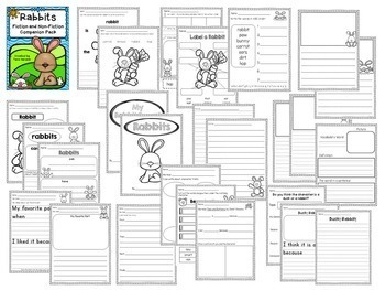 Duck and Rabbit Bundle - Fiction and Non-Fiction Literacy Activities