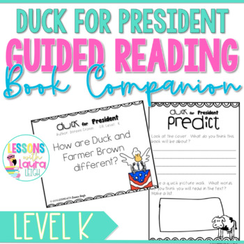 Duck for President Guided Reading Response Booklet