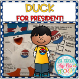 Doreen Cronin's  A Duck For President! ... Literary Companion...Presidents' Day!