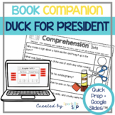 Duck for President Book Companion: Speech Language Therapy Activities