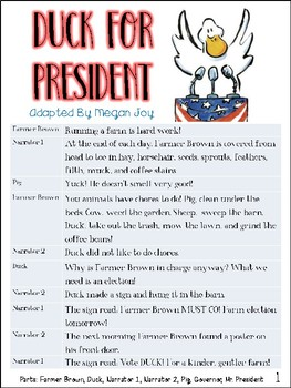 Duck for President Readers Theater
