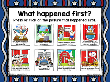 Duck for President Sequencing Activity - Presidents' Day / Election Day
