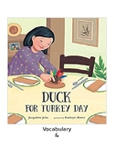 Duck for Turkey Day Guided Question & Writing Task