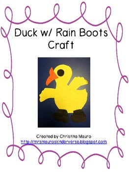 Duck in Boots Craft