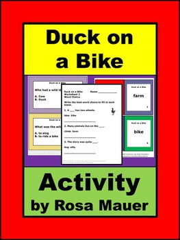 Duck on a Bike Literacy Book Unit