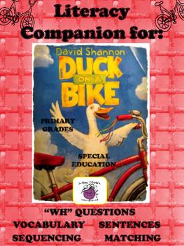 Duck on a Bike Literacy Companion  Many Language-based Activities