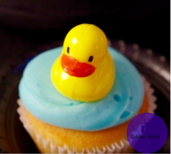 Duck on a Cupcake Stock Photo