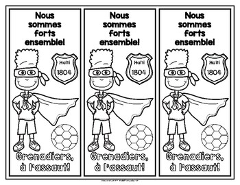 Duckens Nazon and the Grenadiers Bookmarks in French