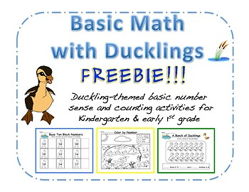Counting and Number Sense with Ducklings Freebie