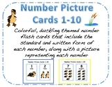 Duckling Themed Number Picture Cards