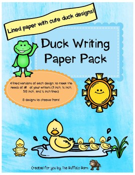 Duckling Writing Paper Pack